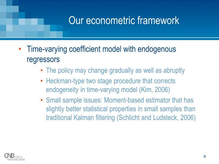 Our econometric framework