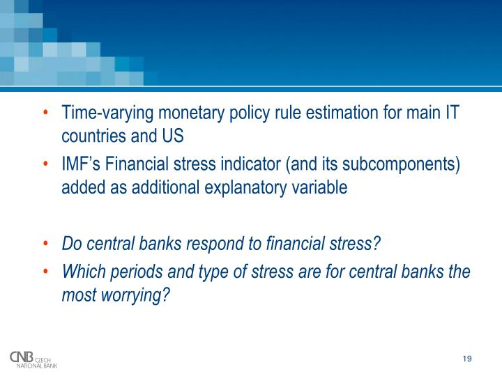 Time-varying monetary policy rule estimation for main IT countries and US