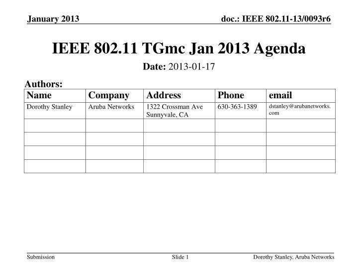 ieee 802 11 tgmc jan 2013 agenda n.
