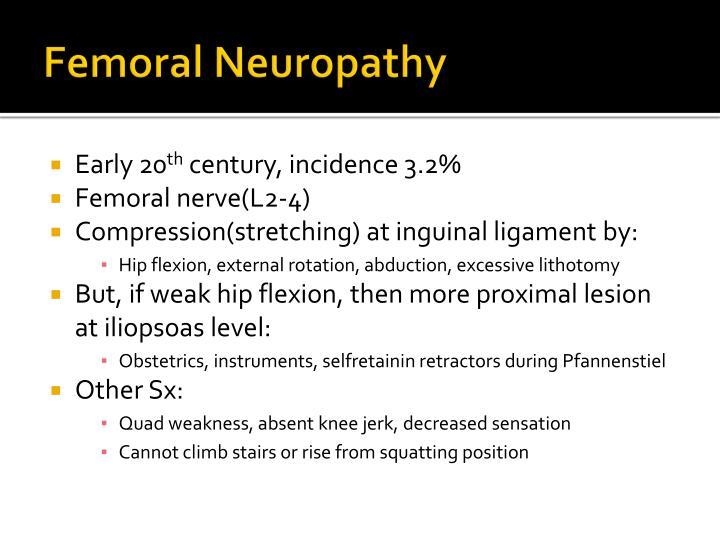 Femoral Neuropathy