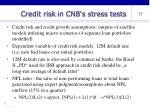 credit risk in cnb s stress tests