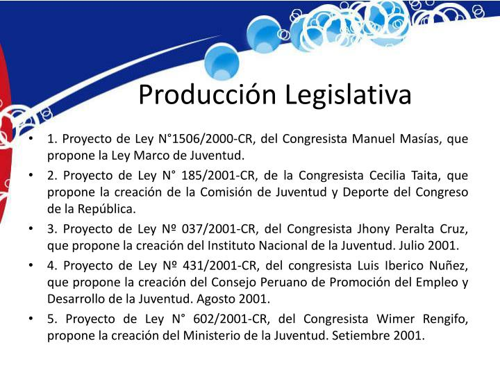 Producción Legislativa