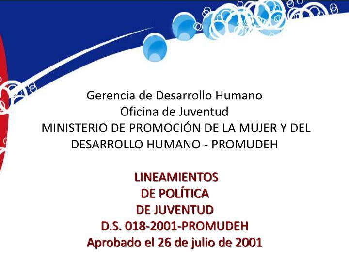 Gerencia de Desarrollo Humano