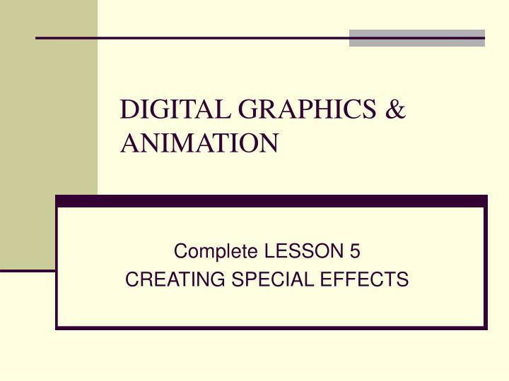 digital graphics animation n.