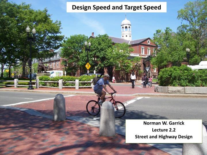 design speed and target speed n.