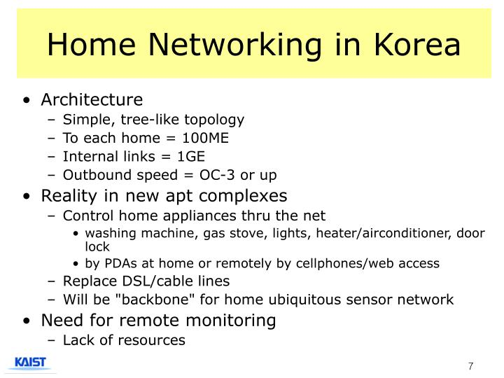 Home Networking in Korea