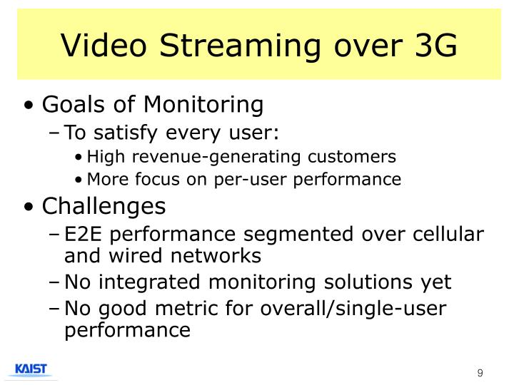 Video Streaming over 3G