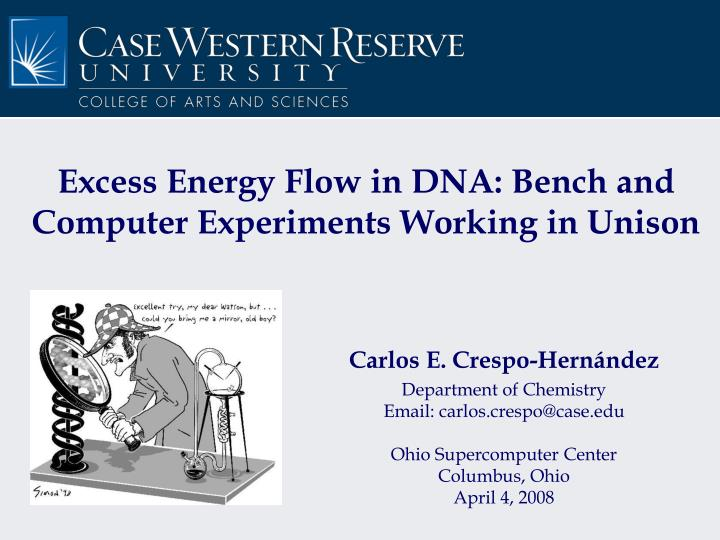 Excess energy flow in dna bench and computer experiments working in unison