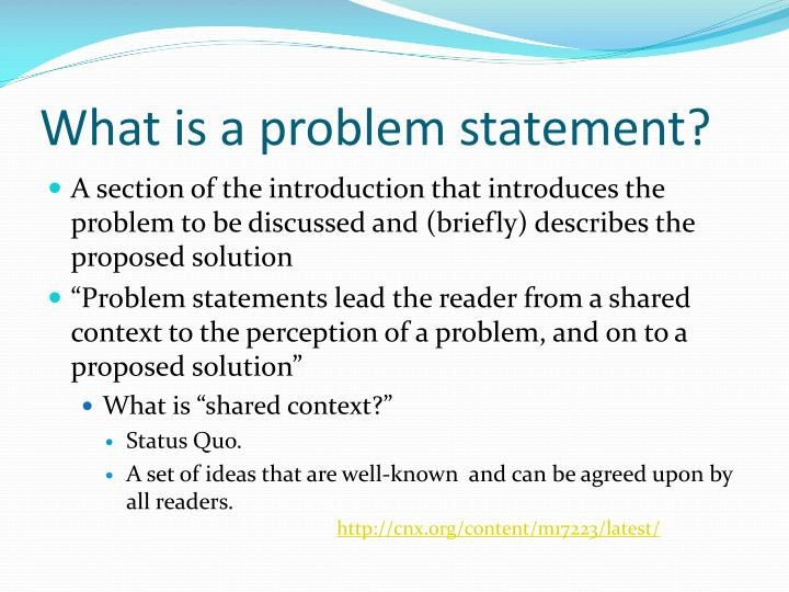 what is a problem statement n.