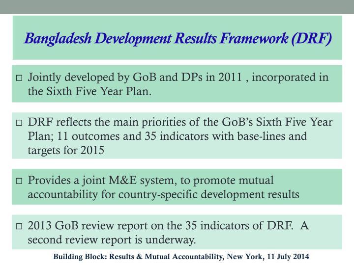 Bangladesh Development Results Framework (DRF)