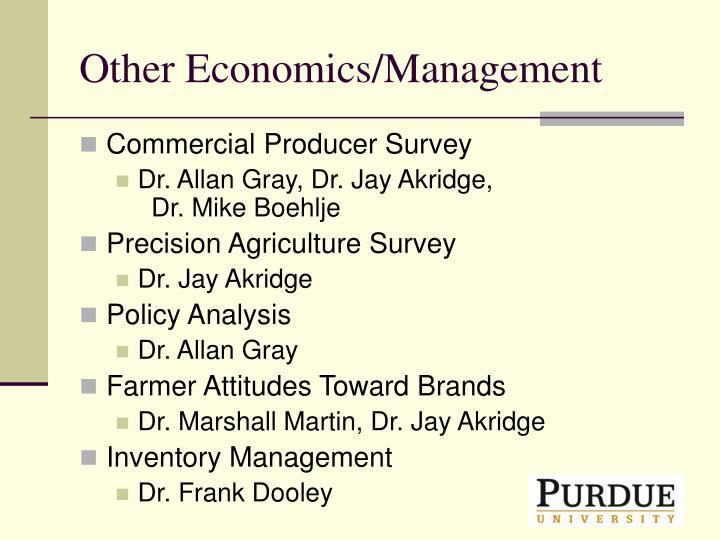 Other Economics/Management