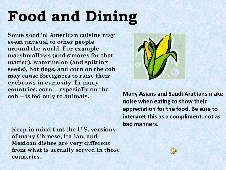 Food and Dining