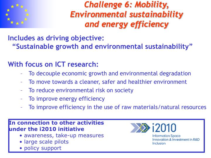 challenge 6 mobility environmental sustainability and energy efficiency n.