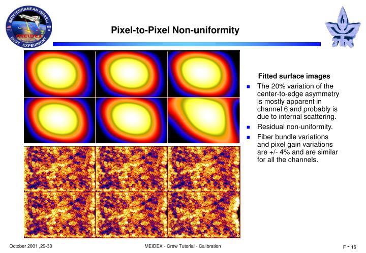 Pixel-to-Pixel Non-uniformity