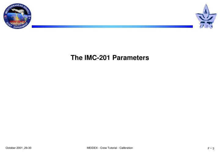 The imc 201 parameters