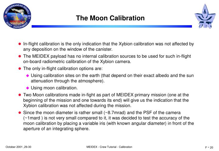 The Moon Calibration
