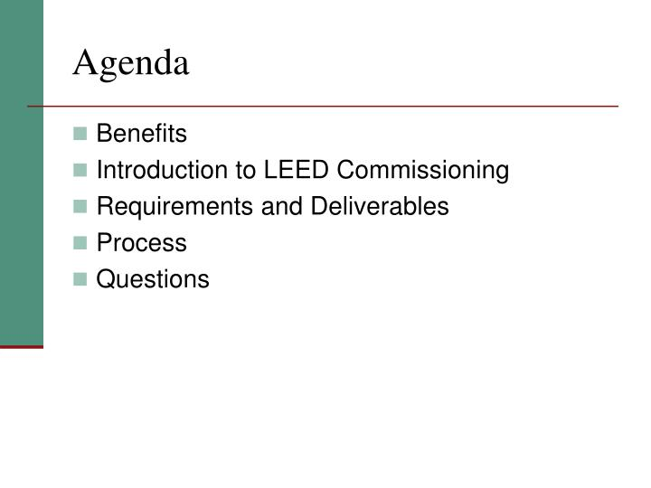 Ppt Introduction To Leed Building Commissioning