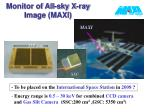 monitor of all sky x ray image maxi