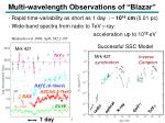 multi wavelength observations of blazar
