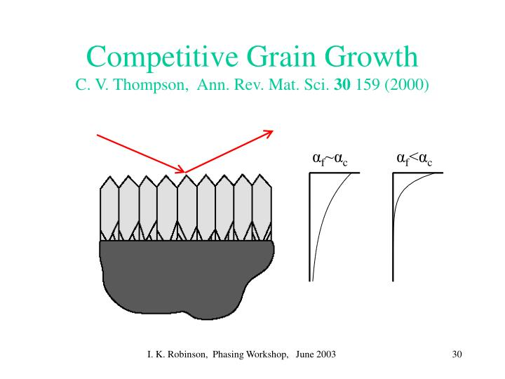 Competitive Grain Growth