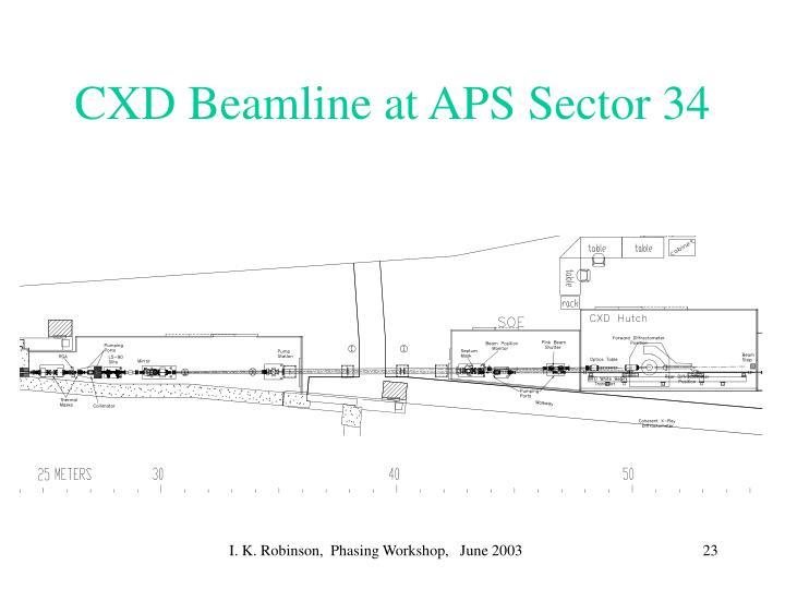 CXD Beamline at APS Sector 34