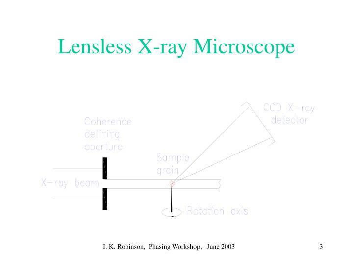 Lensless x ray microscope