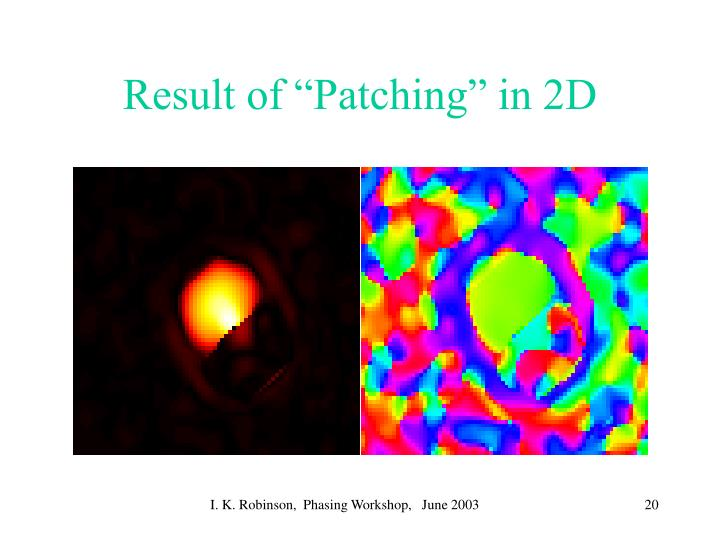 """Result of """"Patching"""" in 2D"""