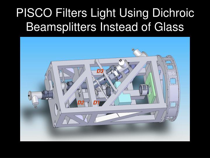 PISCO Filters Light Using Dichroic Beamsplitters Instead of Glass