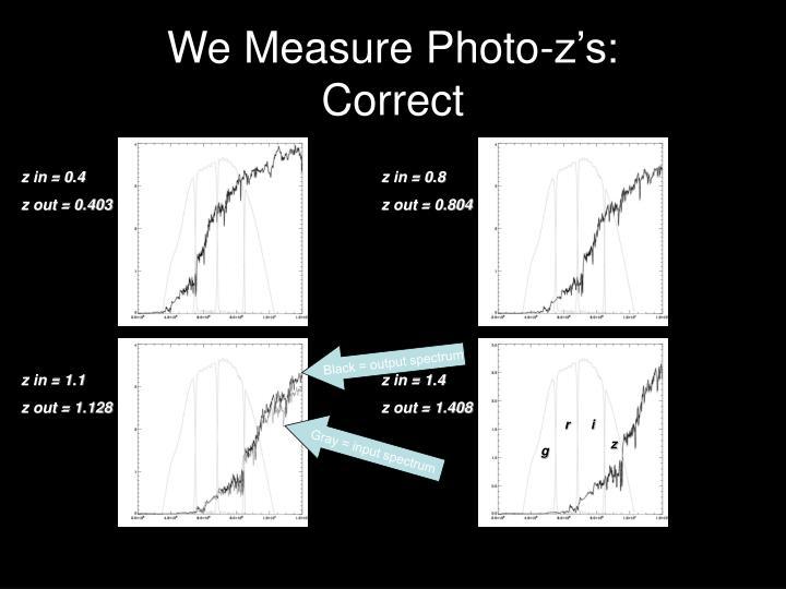 We Measure Photo-z's: