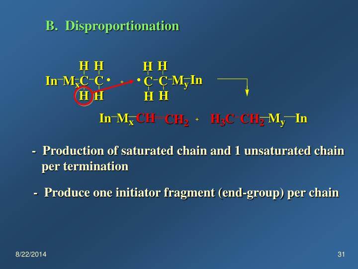 B.  Disproportionation