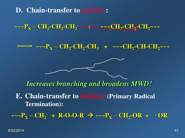 D.  Chain-transfer to