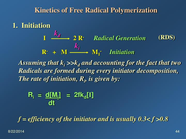 Kinetics of Free Radical Polymerization