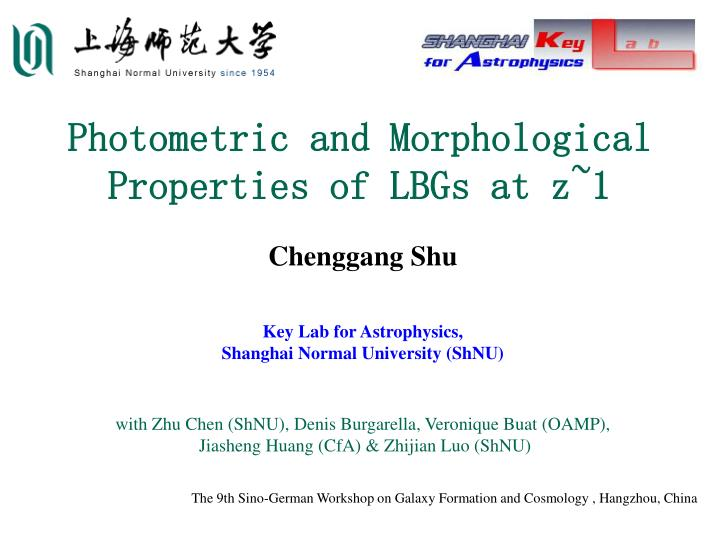 Photometric and morphological properties of lbgs at z 1
