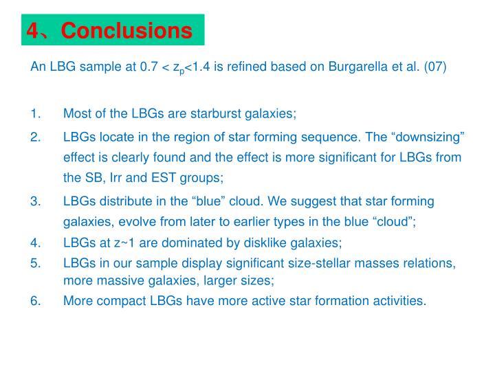 An LBG sample at 0.7 < z