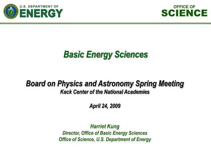 harriet kung director office of basic energy sciences office of science u s department of energy n.