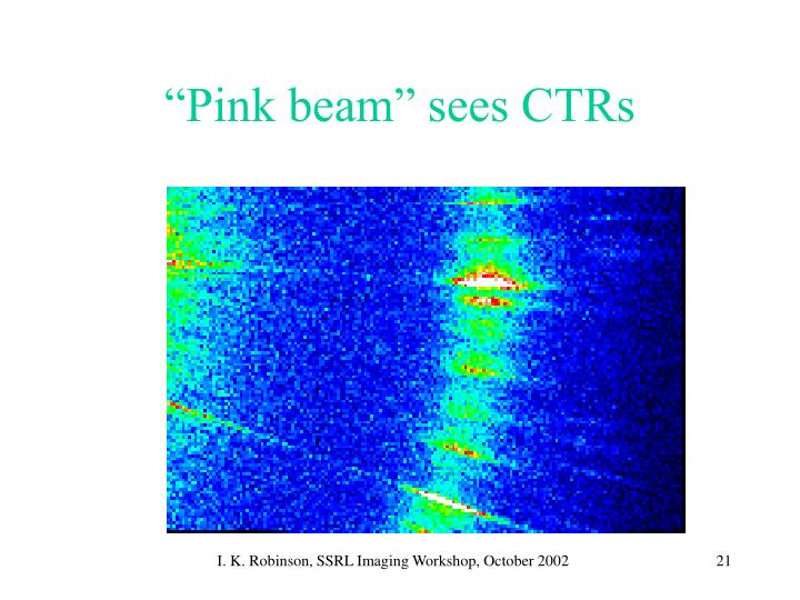 """""""Pink beam"""" sees CTRs"""