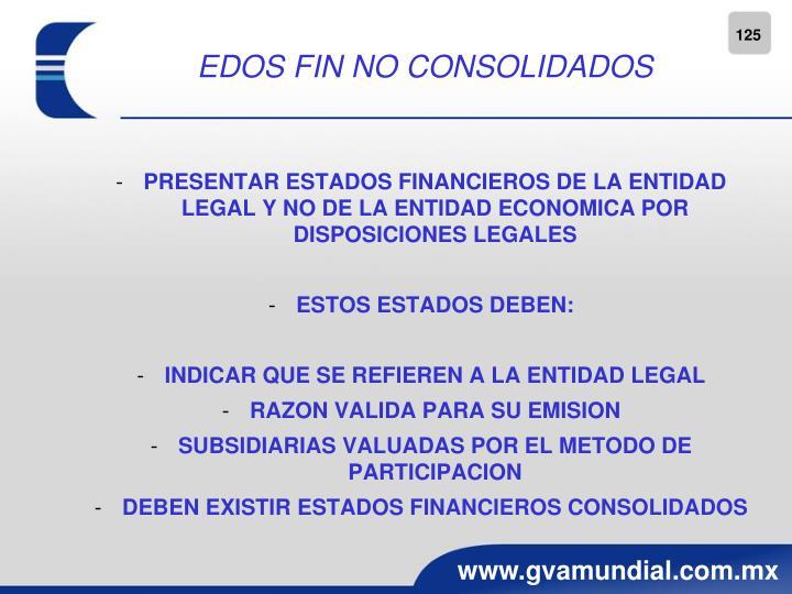 EDOS FIN NO CONSOLIDADOS