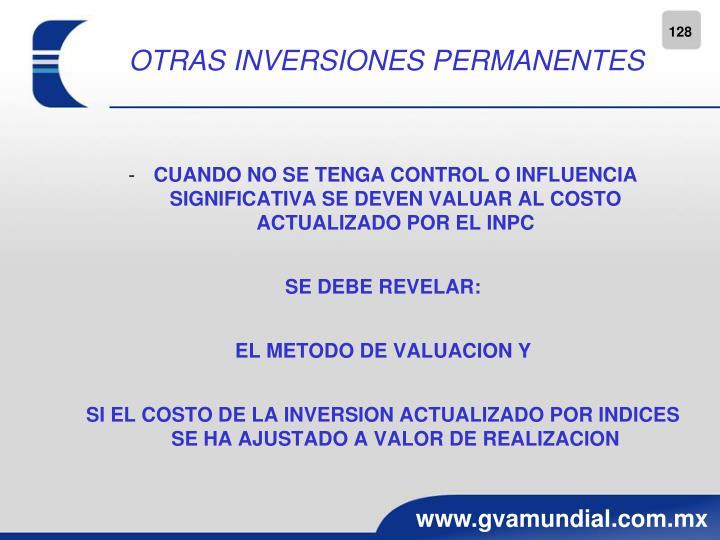 OTRAS INVERSIONES PERMANENTES