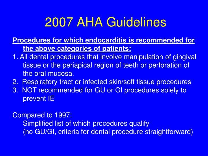 2007 AHA Guidelines