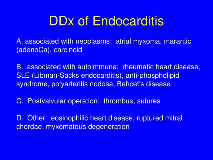DDx of Endocarditis