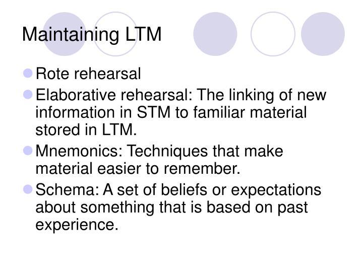 Maintaining LTM