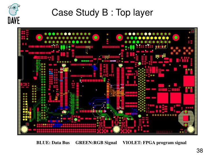 Case Study B : Top layer
