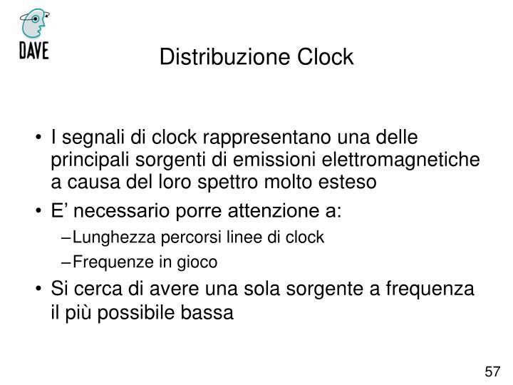 I segnali di clock rappresentano una delle principali sorgenti di emissioni elettromagnetiche a causa del loro spettro molto esteso