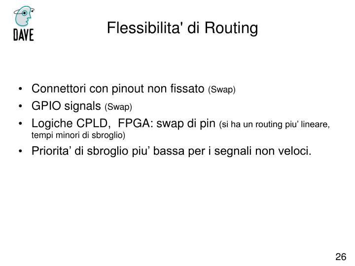 Flessibilita' di Routing