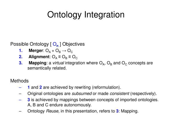 Ontology Integration