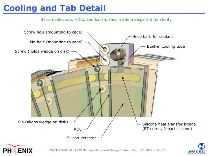 Cooling and Tab Detail