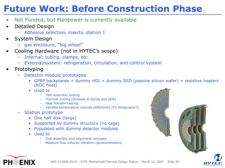 Future Work: Before Construction Phase