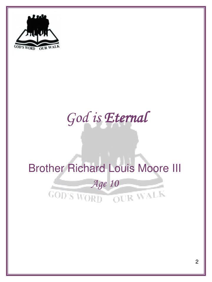God is eternal