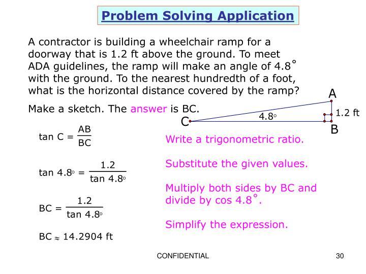Problem Solving Application