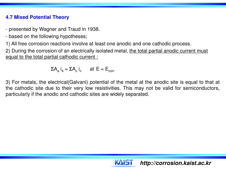 4.7 Mixed Potential Theory